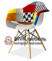 "Кресло ""Eames DAW"" (Wood) (Patchwork №2)"