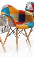 "Кресло ""Eames DAW"" (Wood) (Patchwork №4)"
