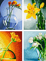 """Картины по номерам «Schipper» (9340529) художественный творческий набор-триптих """"Цветы"""", 80х50 см"""