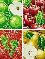 """Картины по номерам «Schipper» (9340535) художественный творческий набор-триптих """"Фрукты"""", 80х50 см"""