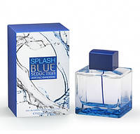 Мужская туалетная вода  Antonio Banderas Splash Blue Seduction for Men Антонио Бандерос Сплеш Блю Седакшн
