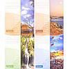 Тетрадь цветная 36 листов, линия