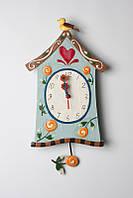 Часы настенные с маятником  Дом для птиц