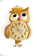 Часы настенные с маятником  Сова с гнездышком