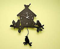 Часы настенные с маятником  Bird house