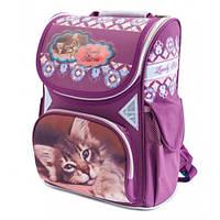 Рюкзак ортопедический, ранец для девочки Class Чехия Kitten 9606