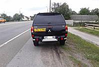 Уголки для защиты заднего бампера Mitsubishi L200 (2006+)