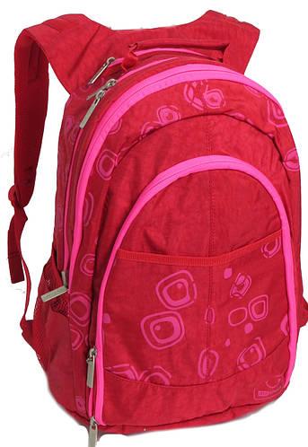 Вместительный женский городской рюкзак 35 л.Bagland 18070 красный с розовым