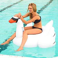 Матрас надувной для бассейна розовый фламинго белый лебедь