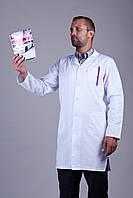 Мужской медицинский белый халат р-ры 48-58