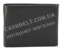 Прочное кожанное портмоне с зажимом для денег HASSION art. LF010 черный