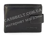 Кожаное, надежное мужское портмоне с зажимом для денег HASSION art. LF302-1 черный