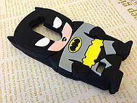 Резиновый 3D чехол для LG Leon Y50 H324 Бетмен