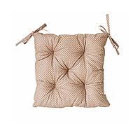 Подушка на стул Горох (беж) 40х40см