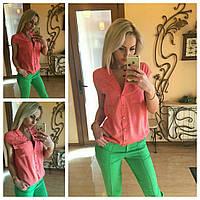 Блузка женская штапельная Розовая