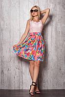 Женское платье 941 (персиковая юбка персиковый верх)