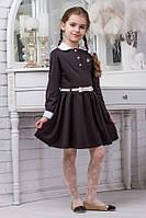 Школьное платье для девочки sh14 (черное и темно-синее)