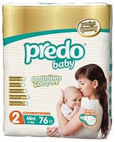 Подгузники детские PREDO BABY MINI 3-6 KG  76 штук