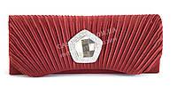 Яркий клатч с красной ткани с искусственными камнями и низкой ценой Б/Н art. 352