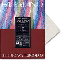 72613030 Альбом для акварели Watercolour 30х30 см 200 г/м.кв. 20 листов склейка с 4 сторон Fabriano Италия