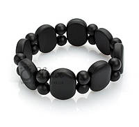 Браслет 0523 черный нефрит натуральные камни