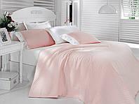Постельное белье с покрывалом Cotton box Сатин пике Pembe pink