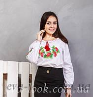 """Украинская белая женская вышиванка """" Калинка """""""