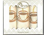Набор салфеток махровых Arya Megan с вышивкой 30Х50 3 шт.