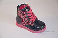 Осенние ботиночки для маленькой девочки на шнуровке 21 до 26 размера