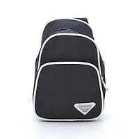 Оригинальная черная мужская сумка. Стильный дизайн. Удобная сумка. Хорошее качество. Новинка. Код: КДН323