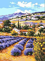 Картины по номерам 30×40 см.  Лавандовое поле
