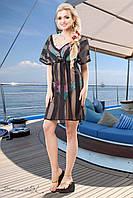 Пляжная прозрачная туника накидка из вискозы сетки 42-52 размеры