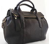 Чёрная сумка из качественной натуральной кожи  Farfalla Rosso