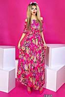 Платье женское летнее с цветочным принтом