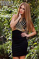 Модное платье без рукавов