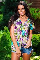 Женская блуза нарядная с цветами 46-54