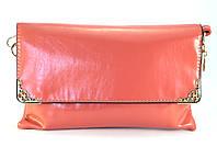 Летний легкий модный женский клатч-барсетка кораллового цвета Б/Н art. 1343-1