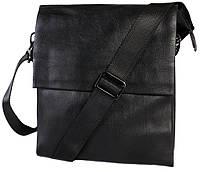 Надежная мужская сумка из кожзама 26х22х5-7см.