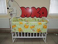 Комплект постельного белья в детскую кроватку 4 в 1 салатовый