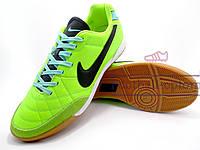 Футзалки (бампы) Nike Tiempo Genio (лайм, черный)