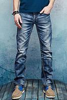 Стильные мужские джинсы с потёртостями