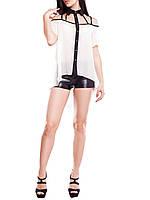 """Модная женская блузка """"Филадельфия Милк"""" с удлиненной спинкой"""