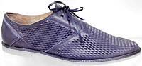 Летние туфли мужские Broni ТЛ 43-03 кожаные, сине-голубые