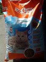 Сухой корм для кошек Клуб 4 Лапы PH Control Профилактика Мочекаменной Болезни 11кг