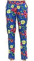 Яркие летние штаны в цветки (в расцветках)