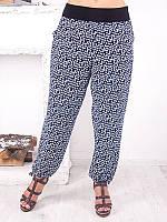 """Легкие женские брюки для полных """"Шейх"""" до 70 размера"""