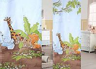 """Готовая тюль-вуаль печать """"Африка""""(для детской) 3м"""