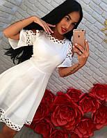Летнее платье коттон с открытыми плечами