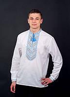 Красивая и стильная украинская вышиванка для мужчин с длинным рукавом
