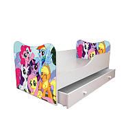 Кровать детская одноместная 2 ящика 190*80 Пони